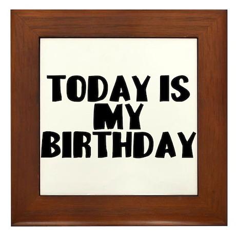 Birthday Today Framed Tile
