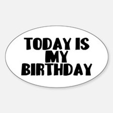 Birthday Today Sticker (Oval)