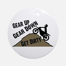 Get Dirty Ornament (Round)