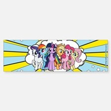 MLP: Mane Six Yellow Sticker (Bumper)