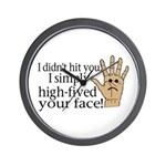 High Fived Face Wall Clock
