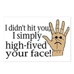 High Fived Face Postcards (Package of 8)