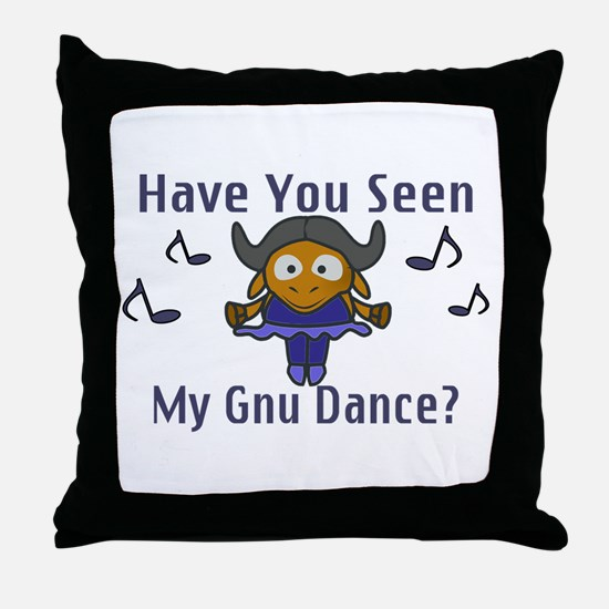 Gnu Dance Throw Pillow