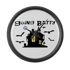 Going Batty Large Wall Clock