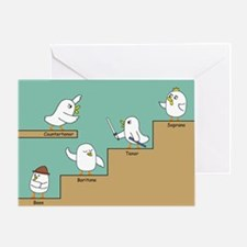 Vocal Parts Greeting Card