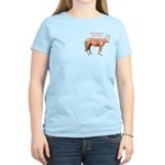 Women's Light Yellow T-Shirt, Curly Stallion