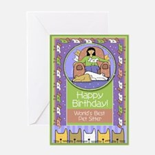 Happy Birthday Pet Sitter Greeting Card