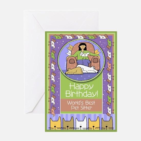 Happy Birthday Pet Sitter Greeting Card