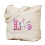 Sweet Little Love Owls Gingham Tote Bag