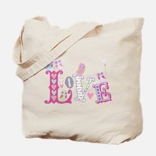 Sweet Little Love Owls Gingham Tote Bag