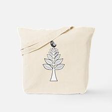 Folk Art Owl and Tree Tote Bag