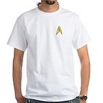 Star Trek TOS Command Badge White T-Shirt