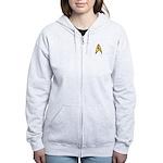 Star Trek TOS Command Badge Women's Zip Hoodie