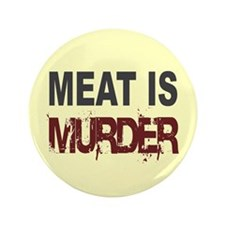 "Meat Is Murder Veg*n 3.5"" Button (100 pack)"