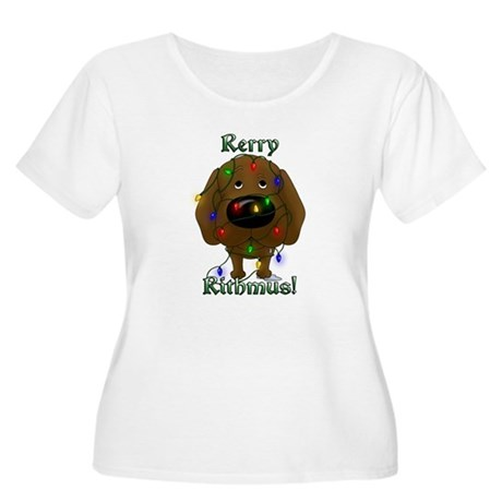 Chocolate Lab Rerry Rithmus Women's Plus Size Scoo