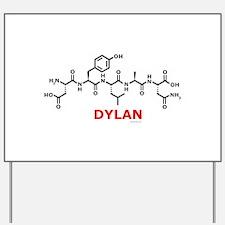 Dylan name molecule Yard Sign