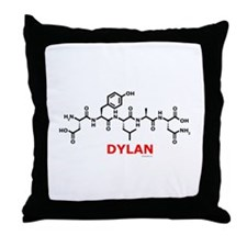 Dylan name molecule Throw Pillow