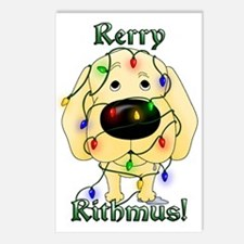 Yellow Lab Rerry Rithmus Postcards (Package of 8)