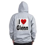 I Love Glenn (Back) Zip Hoodie