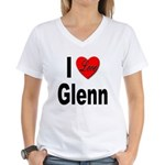 I Love Glenn Women's V-Neck T-Shirt