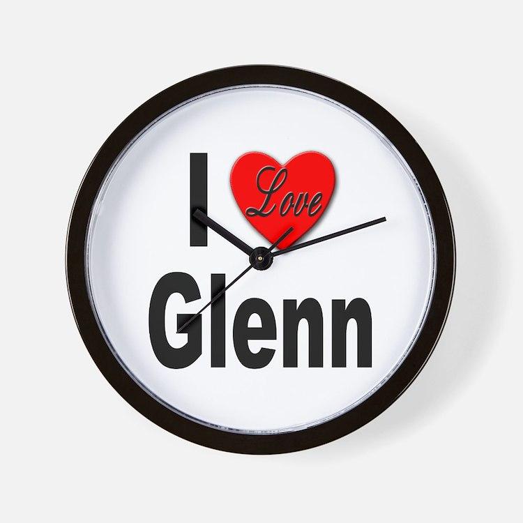 I Love Glenn Wall Clock