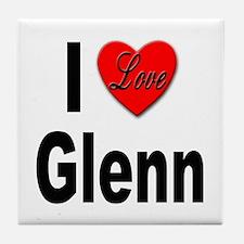 I Love Glenn Tile Coaster