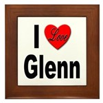 I Love Glenn Framed Tile