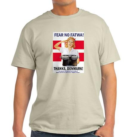 Fear No Fatwa Ash Grey T-Shirt