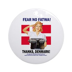 Fear No Fatwa Ornament (Round)