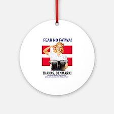 Fear No Fatwa Ornament (Round)