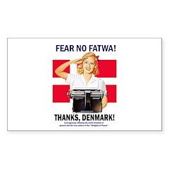 Fear No Fatwa Rectangle Decal