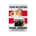 Fear No Fatwa Rectangle Magnet (10 pack)