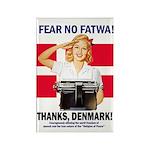 Fear No Fatwa Rectangle Magnet