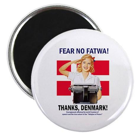 "Fear No Fatwa 2.25"" Magnet (100 pack)"
