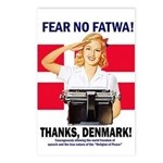 Fear No Fatwa Postcards (Package of 8)