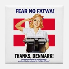 Fear No Fatwa Tile Coaster