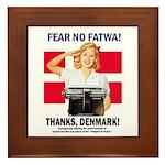 Fear No Fatwa Framed Tile