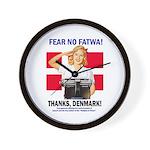 Fear No Fatwa Wall Clock