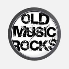 Old Music Rocks Wall Clock