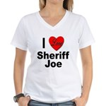 I Love Sheriff Joe (Front) Women's V-Neck T-Shirt