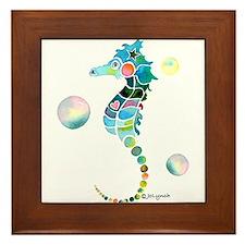 Seahorse Framed Tile