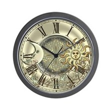 Celestial Sun and Moon Wall Clock