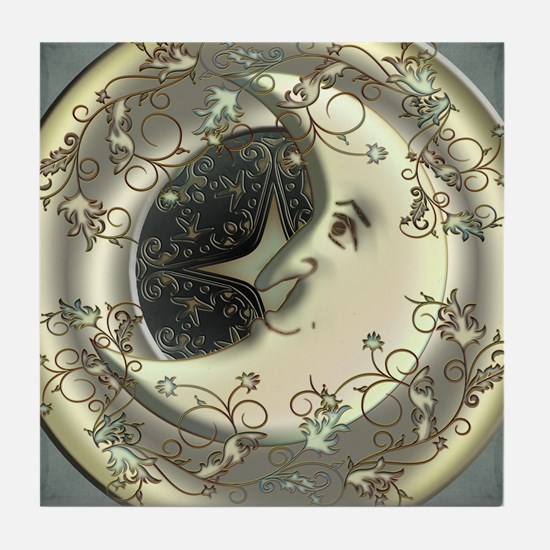 Celestial Moon Tile Coaster
