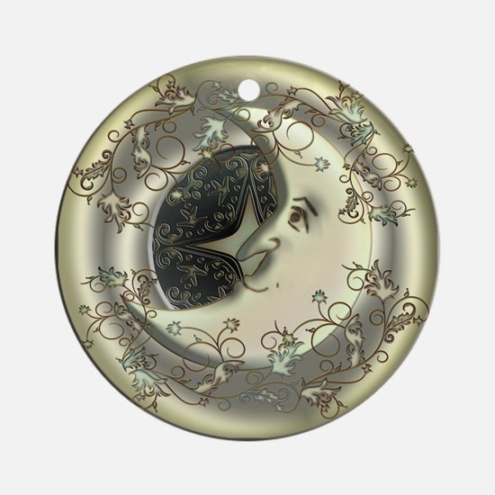 Celestial Moon Ornament (Round)