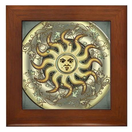 Celestial Sun Framed Tile