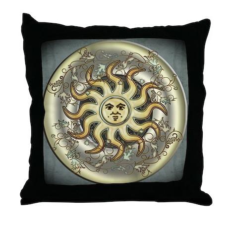 Celestial Sun Throw Pillow
