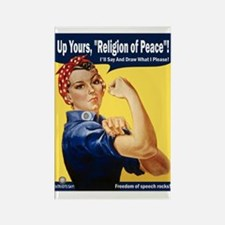 Up Yours, Islam! Rectangle Magnet