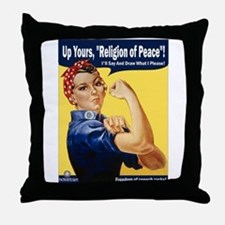 Up Yours, Islam! Throw Pillow