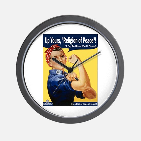 Up Yours, Islam! Wall Clock