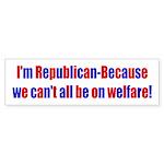 Welfare Bumper Sticker